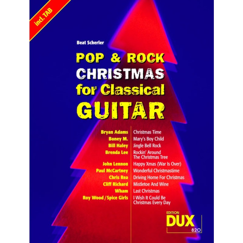 Pop & Rock Christmas for Classical Guitar - Weihnachtsmusik