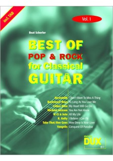 Best of Pop & Rock for Classical Guitar Vol. 1