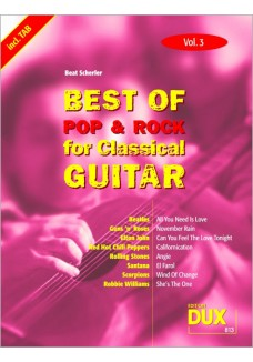 Best of Pop & Rock for Classical Guitar Vol. 3