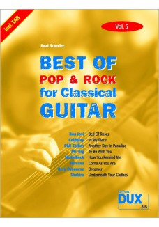 Best of Pop & Rock for Classical Guitar Vol. 5