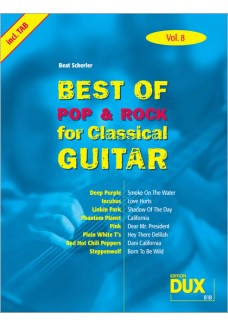 Best of  Pop & Rock for Classical Guitar Vol. 8