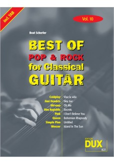 Best of Pop & Rock for Classical Guitar Vol. 10