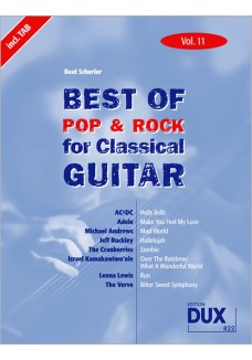 Best of  Pop & Rock for Classical Guitar Vol. 11