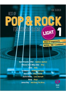 Best of Pop & Rock for Acoustic Guitar light 1